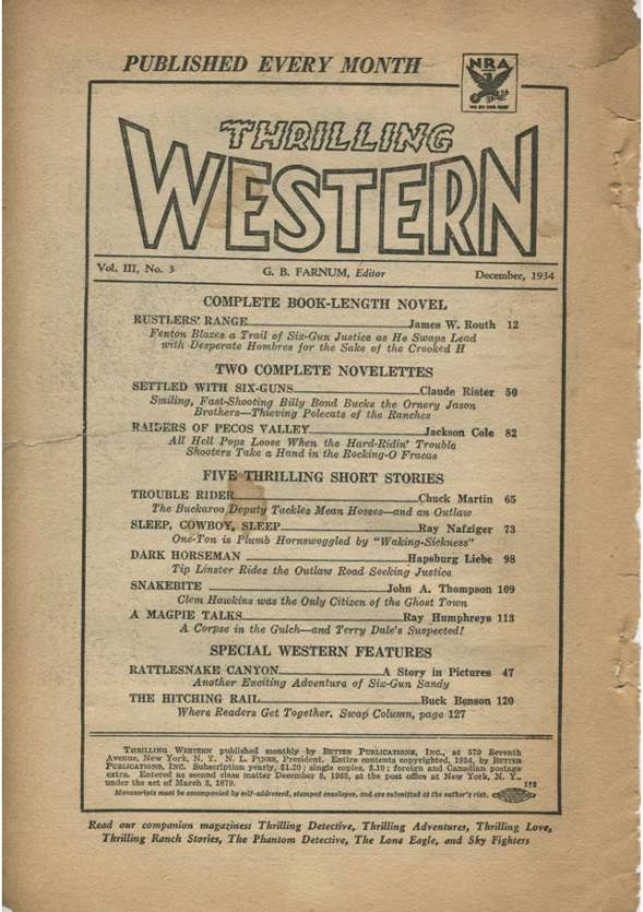Trilling Western Dec 1934 TOC