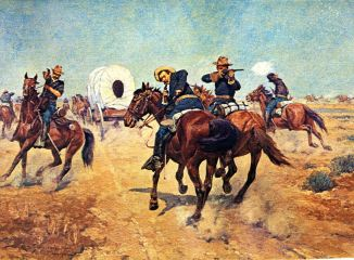 Voaw_728_Protecting the Emigrants_Charles Schreyvogel_sqs